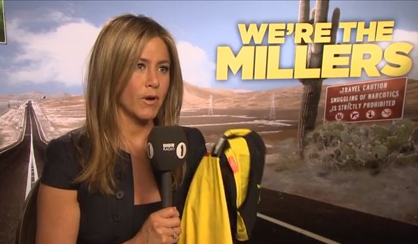 The Jennifer Aniston Watford shirt, presented to the actress by Chris Stark from the Scott Mills show on BBC Radio 1