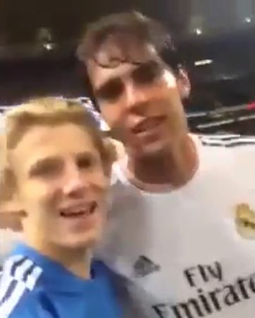 Real Madrid v Inter Milan pitch invader records himself and poses with Kaká