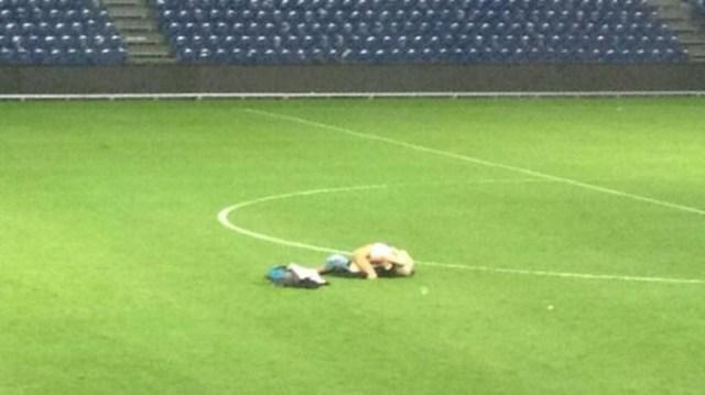 A couple have sex on pitch after Brøndby 0 - 0 Randers