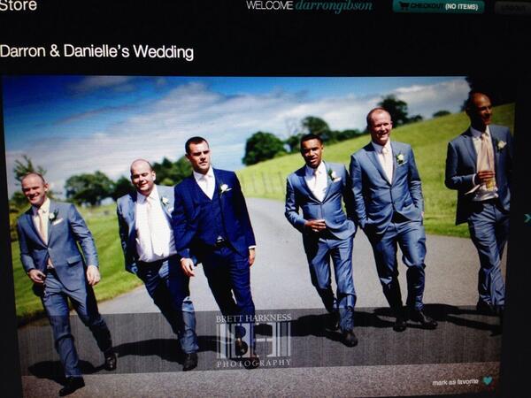 Darron Gibson's wedding