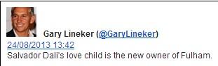 Gary Lineker on Fulham's new owner