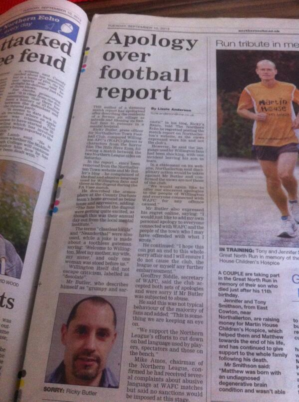 Northallerton press officer calls Willington inbreds, apologises