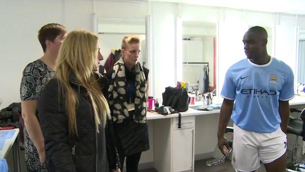 Micah Richards injury prank on City staff at advert filming rehearsal