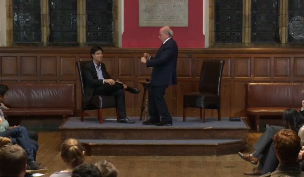 The Sepp Blatter Ronaldo impression at Oxford Union