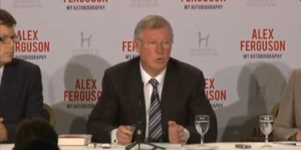 The Sir Alex Ferguson book release press conference