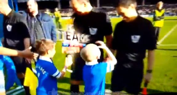 The Everton mascot handshake trick on matchday officials