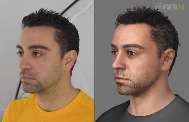 Xavi's Barcelona FIFA 14 head scan for the next-gen consoles