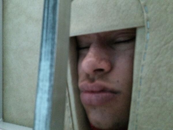 Alex Oxlade-Chamberlain sleeping