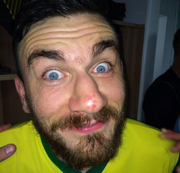 Robert Snodgrass looking like Wario