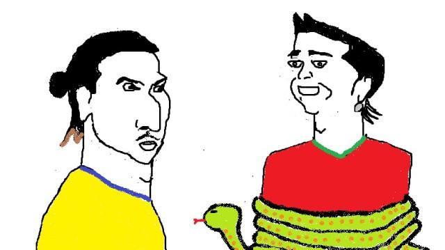 Ronaldo v Zlatan v snake