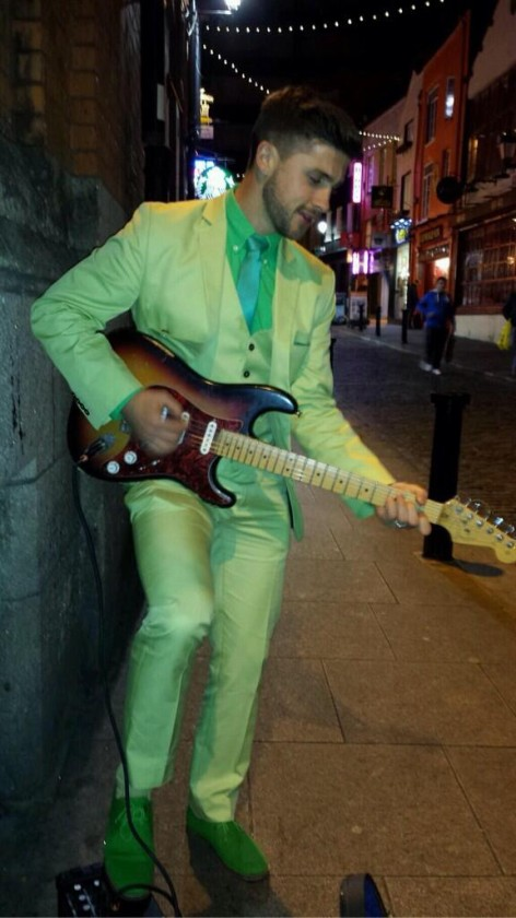 West Brom's Shane Long busking in Dublin outside the Temple Bar