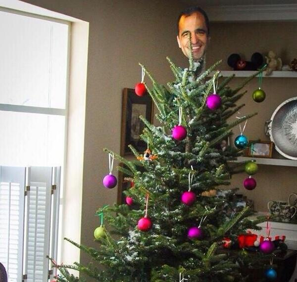 Roberto Martínez Christmas tree