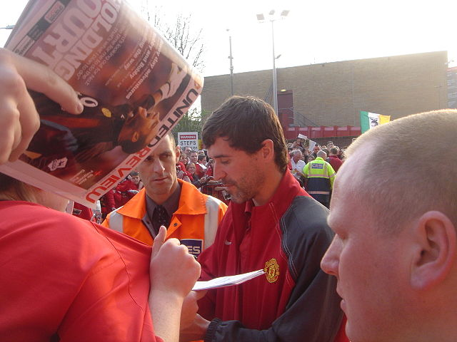 Roy Keane signs autographs good practice for when Rockmount, a film based on his life, is released - others have come up with alternative #RoyKeaneFilmTitles