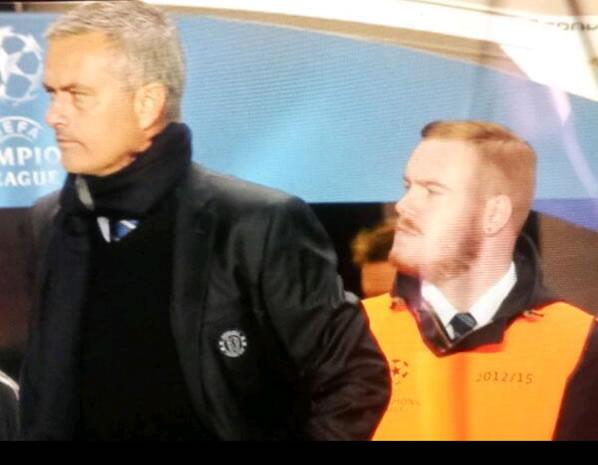 Wayne Rooney lookalike Chelsea steward with a moustache
