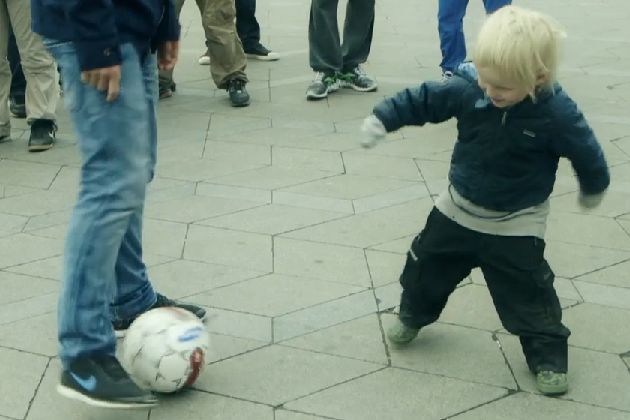 Christian Eriksen nutmegs child and makes the child cry