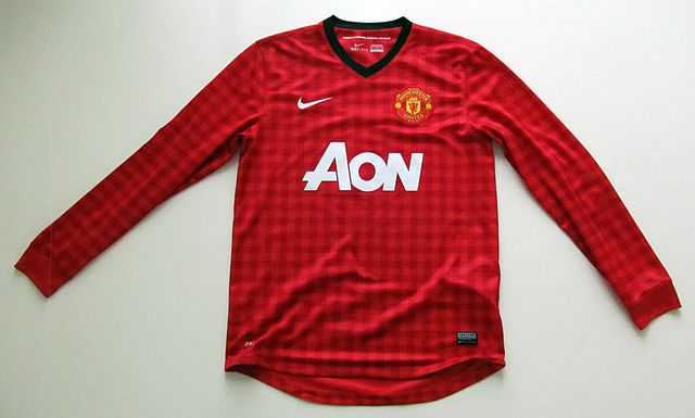 This shirt was not worn in the Olympiakos Champions League loss that sparked more Manchester United jokes