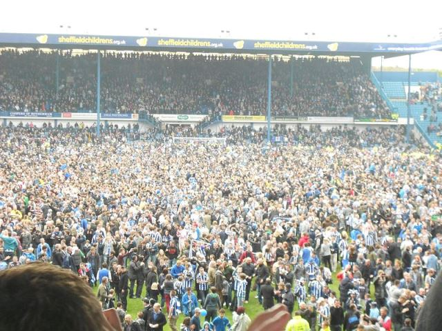 Sheffield Wednesday pitch invasion