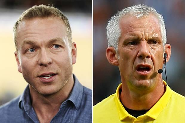 The Chris Hoy jokes rolled in after the cyclist was confused with referee Chris Foy