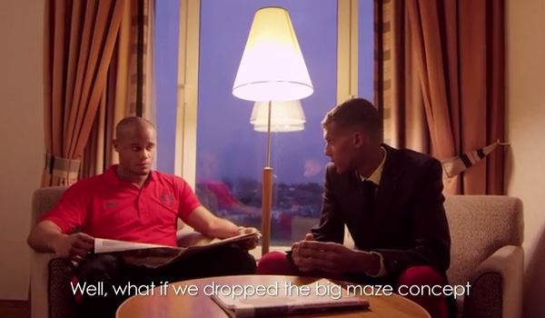 Kompany in Stromae's Lesson 28 for ta fête, the official Belgium World Cup song
