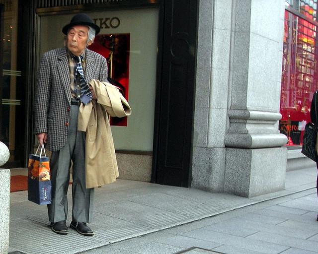 Hipster old guy inspired by Pellegrini hoodie