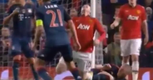 Wayne Rooney dives against Bayern Munich