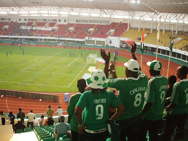 These Nigeria fans probably enjoyed the Scotland v Nigeria match-fixing jokes
