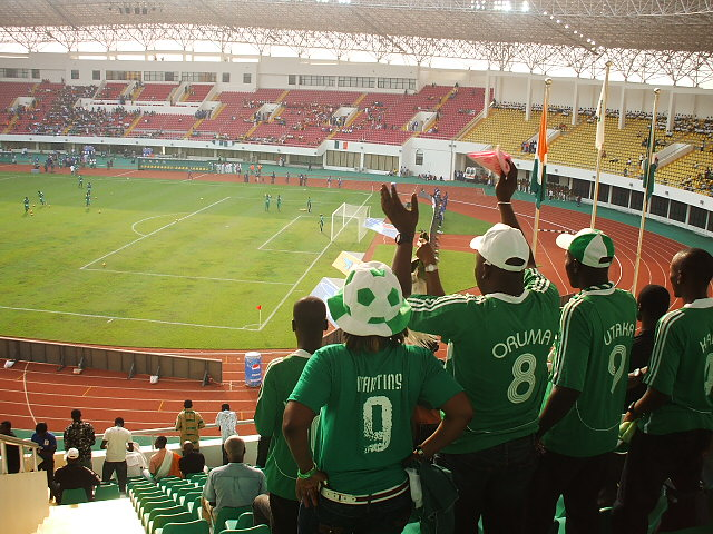 These Nigeria fans probably enjoyed the Scotland v Nigeria match-fixing jokes