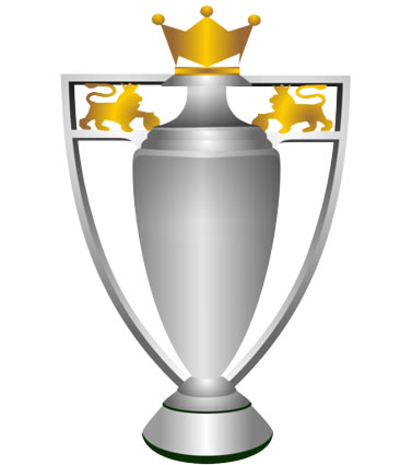 The Premier League trophy, won by Manchester City, the cause of the Liverpool title jokes