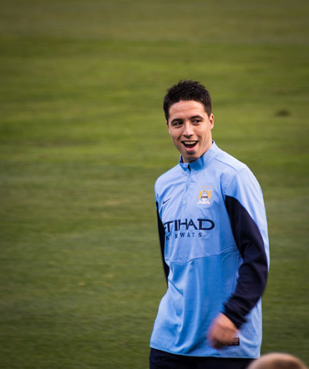 Samir Nasri's girlfriend was angry after the Manchester City midfielder was left out of France's World Cup squad