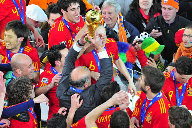 Spain celebrate, but are unlikely to be the butt of many World Cup jokes