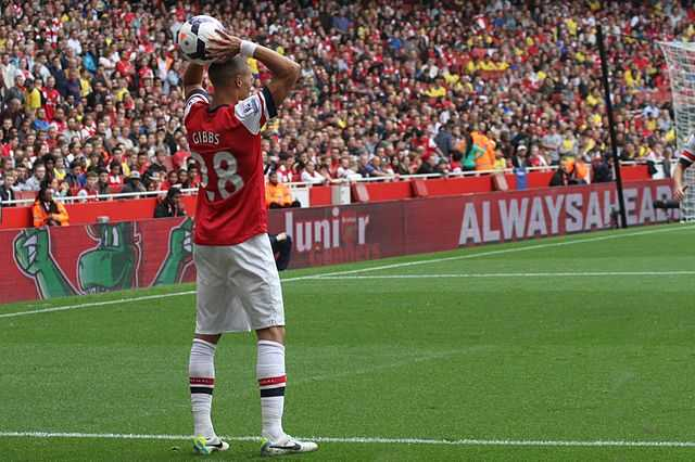 Kieran Gibbs clearance mania was yet to strike when he took this humble throw-in against Stoke