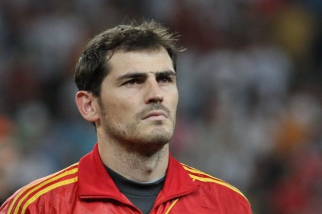 Seen here playing for Spain before the Iker Casillas jokes were ever conceived, before he conceded 5 vs Holland at Brazil 2014