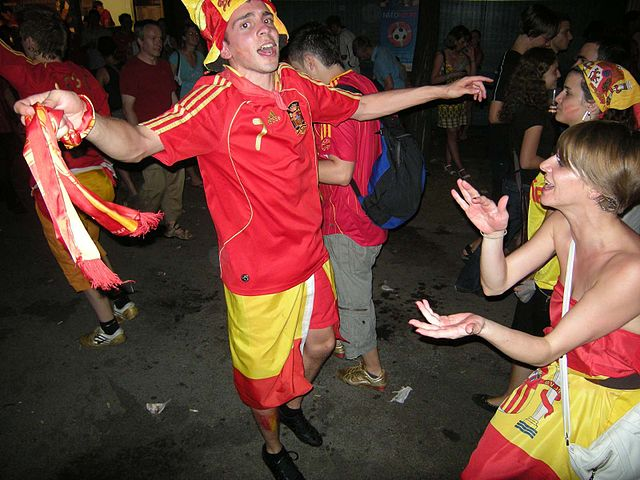 These Spanish fans will not be happy with the Spain jokes after their side failed to progress past the group stage at Brazil 2014
