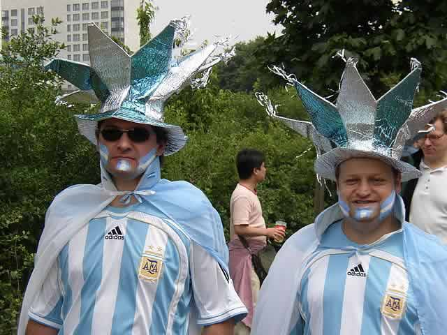 These fans will have enjoyed the match as well as the tweets and jokes from Netherlands vs Argentina - Brazil 2014 World Cup semi-final