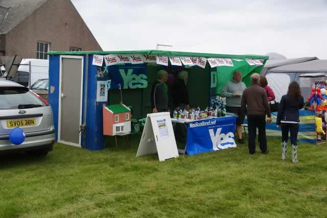 You may have been able to hear from football fans on Scottish independence ahead of the referendum at this Yes vote stall