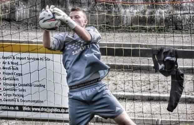 Huntly FC's Fraser Hobday in action, but the amateur goalkeeper's Wikipedia entry is now being considered for deletion