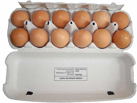 A box off eggs, just like the ones used in the Man City fan eggs mum Vine after their loss to Middlesbrough in the FA Cup 4th round