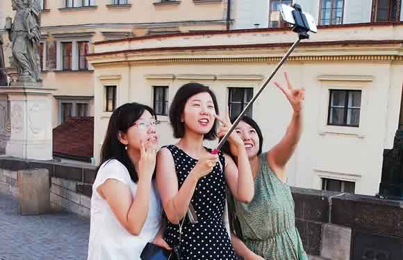 A Spurs fan's complaint has got selfie sticks banned at White Hart Lane, so these ladies would not be allowed in
