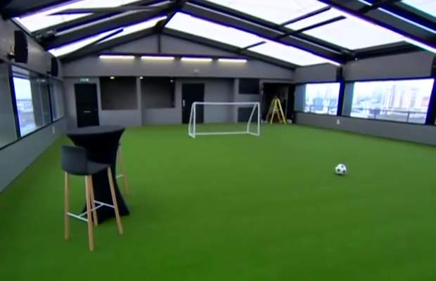 Heaven, the five-a-side pitch at Hotel Football - the Manchester United Hotel outside Old Trafford