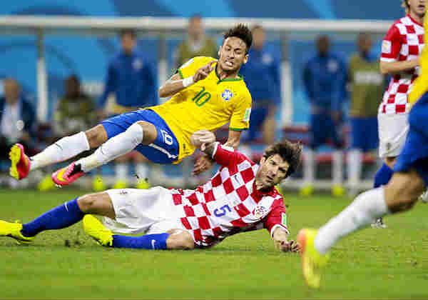 Here's Neymar being swept off his feet at the World Cup