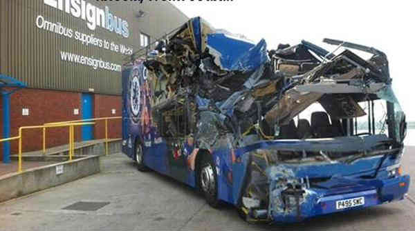 This crushed bus represents one of the best Chelsea jokes to follow their 0-3 defeat to Man City