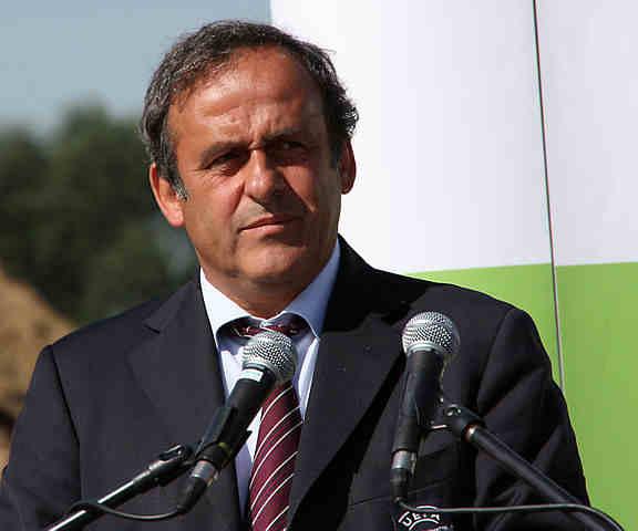 Prospective Fifa president Michel Platini