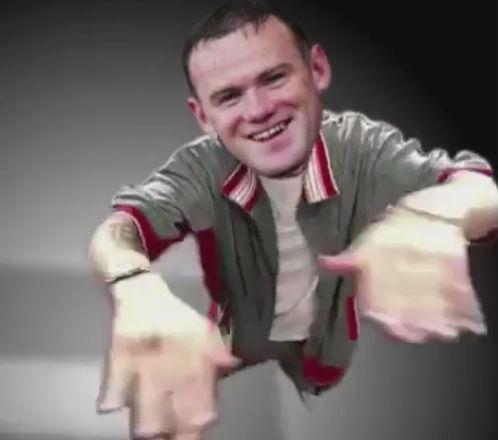 Wayne Rooney hat-trick celebration