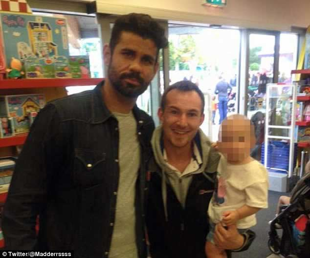 Diego Costa at Peppa Pig World the day after controversial Arsenal clash