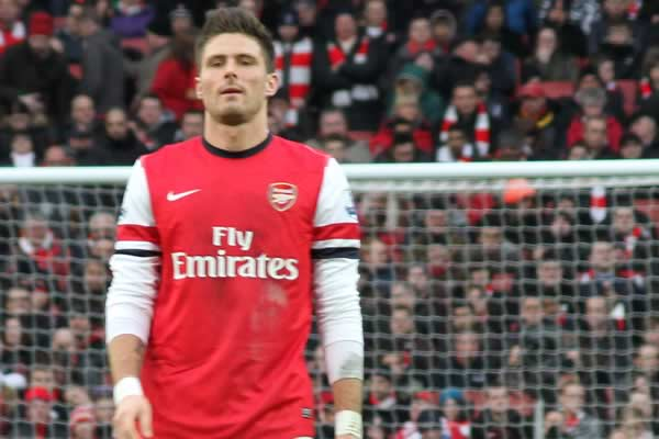The Arsenal striker who was on the end of numerous Olivier Giroud sent off jokes after his red card against Dinamo Zagreb in the Champions League