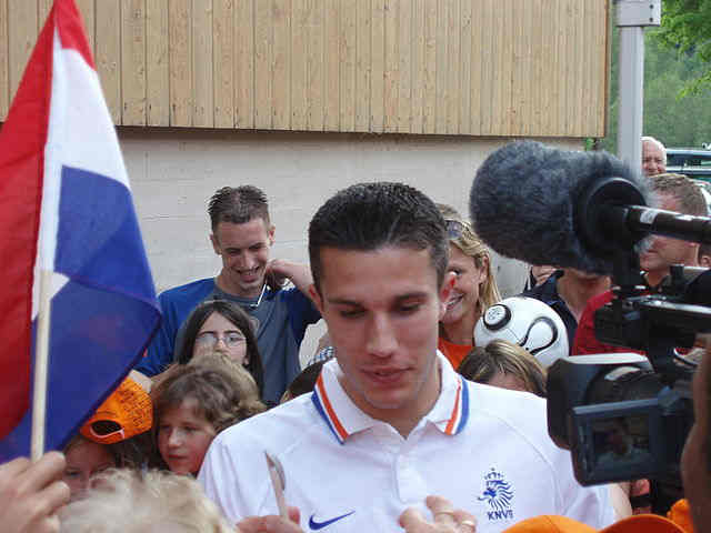 Robin van Persie is one of our players who injured themselves scoring
