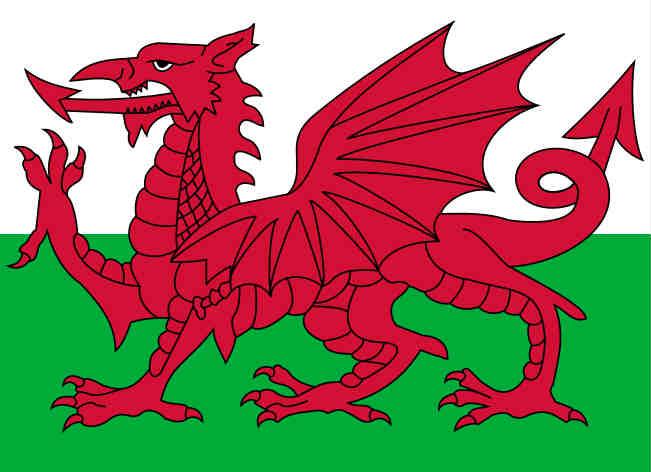 Welsh flag, beloved of Wales