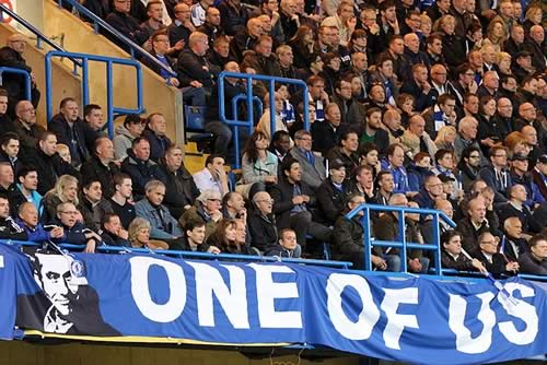 These fans support the manager, but will they still after hearing the Chelsea jokes following the 1-0 Stoke City defeat