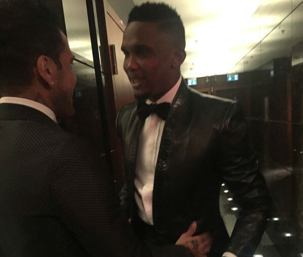 Samuel Eto'o's leather suit