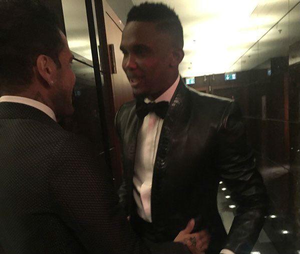 Samuel Eto'o's leather suit